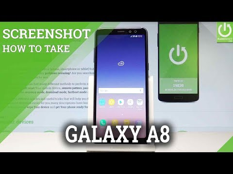 How to Take Screenshot on SAMSUNG Galaxy A8 (2018)