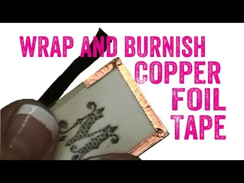 How to Use Copper Foil Tape on Glass Pendant