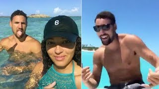Klay Thompson Spotted with ANOTHER Baddie, Goes Dancing on a Boat and Swims with Pigs