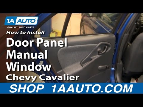 How To Install Replace Rear Door Panel Manual Windows Chevy Cavalier 95-05 1AAuto.com