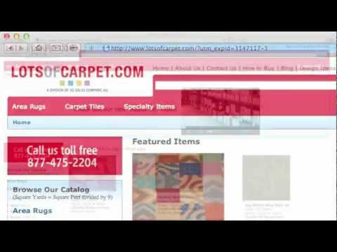 How to buy Carpet Tiles from LotsofCarpet.com
