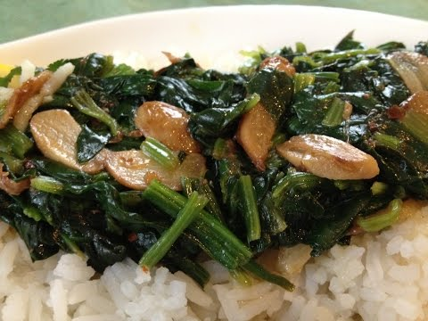 Sauteed Garlic Spinach - Healthy Cooking, Healthy Spinach