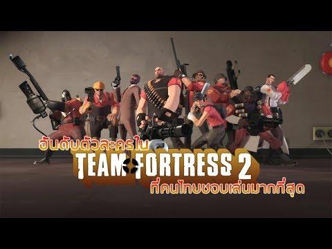 อันดับตัวละครใน Team Fortress 2 ที่คนไทยชอบเล่นมากที่สุด