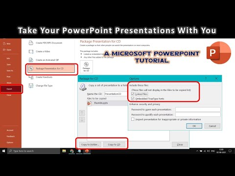 How To Save PowerPoint Presentation To CD / DVD / USB or Folder | PowerPoint 2016 Tutorial