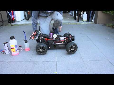 How to start up a nitro rc car using a start up box
