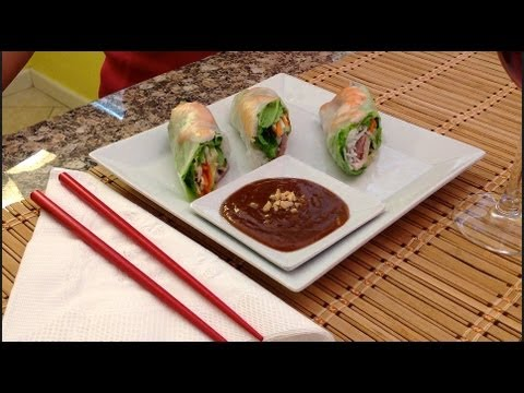 Goi Cuon-Spring Rolls-How To Make Summer/Spring Rolls-Goi Cuon-How To Make Panut Dipping Sauce