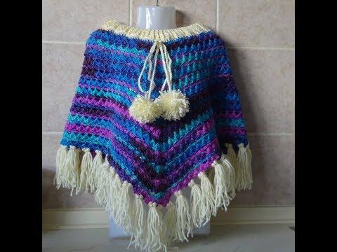 Crochet Pattern *CROCHET PONCHO- EASY AND FAST *
