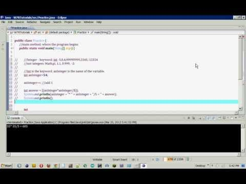 Java Basics: Integers, Doubles, and Strings (part 2)