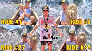Going On The Same Water Roller Coaster 100 Times... *Bad Idea*