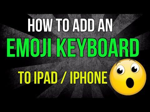 How to add an emoji keyboard to the iPad or iPhone