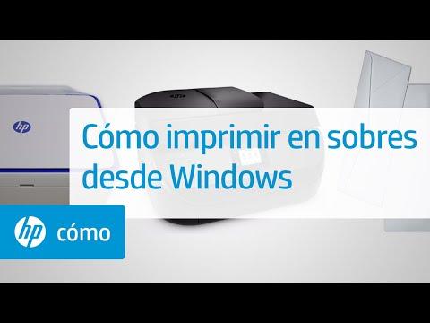 Cómo imprimir en sobres desde Windows   Impresoras HP   HP