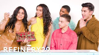 The Cast Of On My Block Guess What's In Each Other's Bags | Spill It | Refinery29