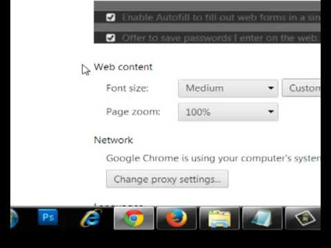 how To change Google Chrome fonts