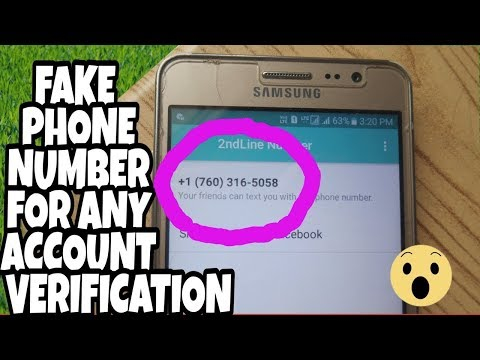 Get a fake number and activate Facebook, Watsp, Viber