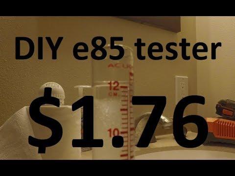DIY make your own e85 test kit for under 2 dollars