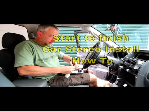 Nissan DVD Stereo Install HOW TO from start to finish