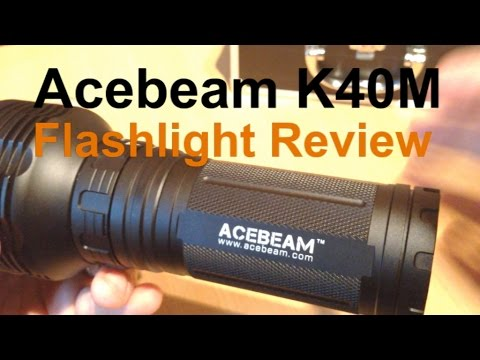 Acebeam K40M 3000 Lumen flashlight review