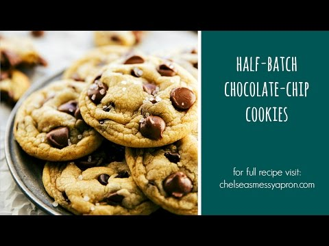 One Bowl Half-Batch Chocolate-Chip Cookies