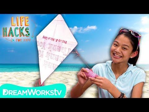 DIY Kite + Other Beach Hacks | LIFE HACKS FOR KIDS