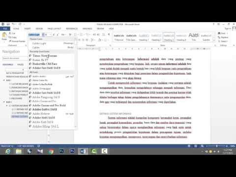 Microsoft Word Heading dan Daftar Pustaka secara Otomatis Word 2013