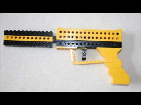 simple LEGO blowback gun (+silencer)
