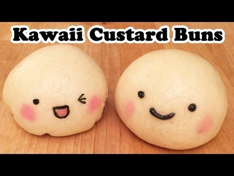 Kawaii Steamed Custard Buns - Cheeky Crumbs