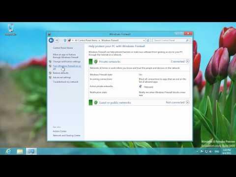 Windows 8 Disable Firewall