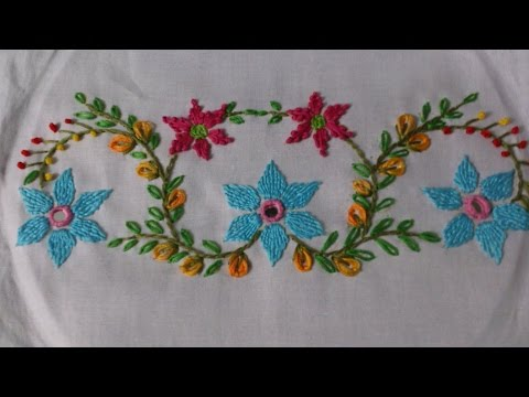 Embroidery Diy Designs For Dresses Pillow Covers Etc Handiworks