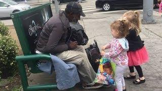 Adorable Kids Helping Homeless People - Cute Kids Videos