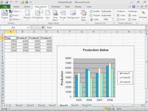 Print Row and Column Headings - Excel 2010