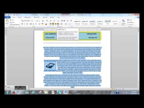 CREATING 2-COLUMN NEWSLETTER