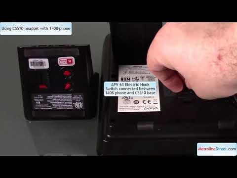 How to Use Plantronics CS510 headset with Avaya 1408 phone