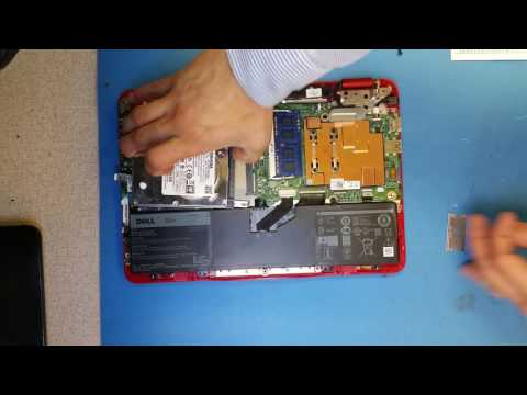 [How To] Open Dell Inspiron 11 3000 P25T & Replace Hard Drive / Upgrade