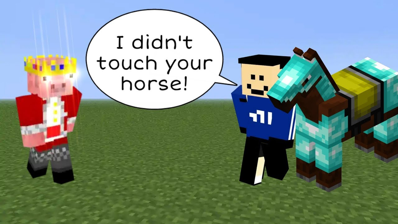 Quackity tries to steal Technoblade's horse and INSTANTLY regrets it.