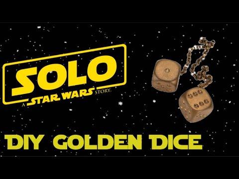 D.I.Y Han Solo's Golden Dice