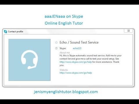 Skype Test Call
