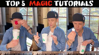 Top 5 Trick with a Cup (Tutorial)-Julien Magic @shamrockcups