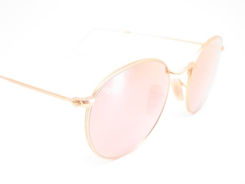 Ray-Ban RB 3447 Round Metal 112/Z2 Matte Gold Sunglasses