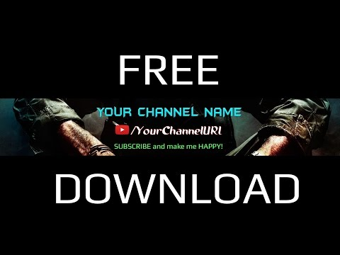 FREE YouTube Banner Template PSD | NEW 2015