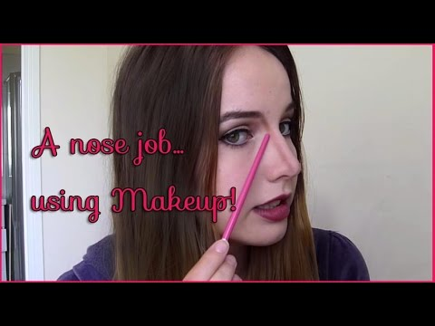 Make your nose look smaller & slimmer with makeup!