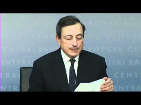 ECB's Draghi: ongoing financial tensions will harm growth
