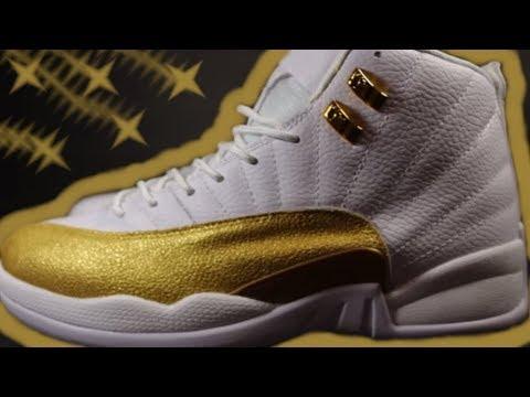 Custom Jordan 12 OVO Gold  Custom Jordans Custom Shoes