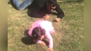 MS Dhoni Daughter Ziva Latest Video | Playing With MS Dhoni