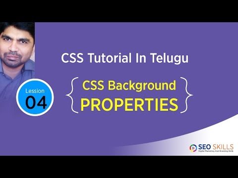 CSS tutorial in Telugu- Background Properties - Colour-image-position-Attachment