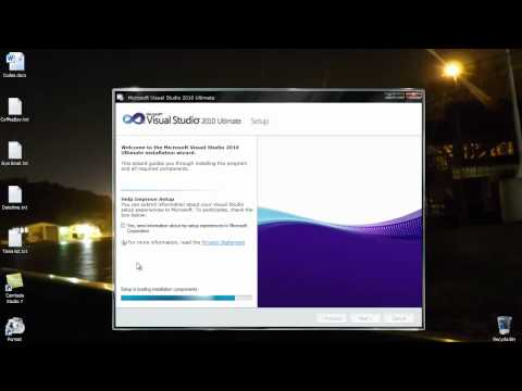 How to Install Visual Studio 2010