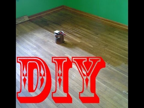 DIY - How to make hardwood floors look nice again, cheap and easy!