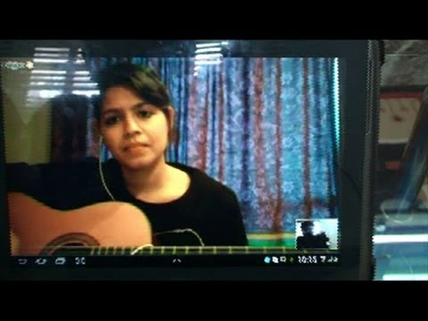 Online student Tanya (New zealand ) learning Guitar from me