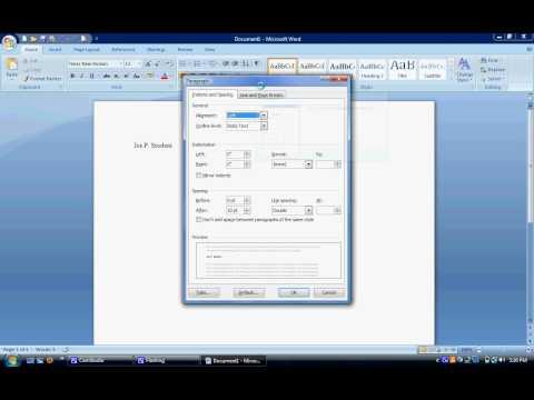 Adams MLA Format Tutorial Word 2007.avi