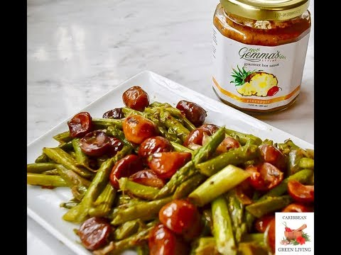Easy Asparagus with Roasted Chestnuts Recipe