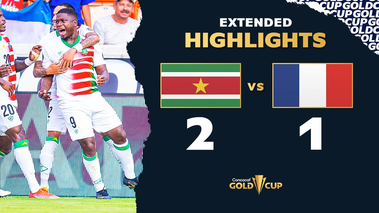 Extended Highlights: Suriname 2-1 Guadeloupe - Gold Cup 2021